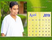 Acharya Balkrishna Ji April 2016 Monthly Calendar Wallpaper,