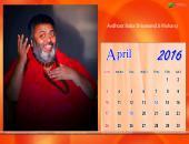 Avdhoot Baba Shivanand Ji Maharaj April 2016 Monthly Calendar Wallpaper,