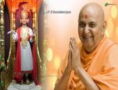 BAPS Swaminarayan wallpaper, brown, pink and orange color