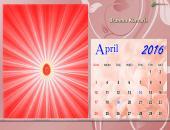 Brahma Kumaris April 2016 Monthly Calendar Wallpaper,
