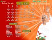 Brahma Kumaris May 2016 Hindu Calendar Wallpaper,
