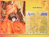 Daati Maharaj April 2016 Monthly Calendar Wallpaper,
