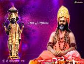 daatiji maharaj wallpaper, pink purple color, daati ji with shanidev