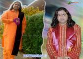 Devkinandan ji image, orange and green color