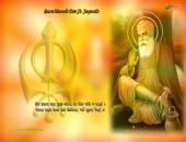 Guru Nanak Ji Wallpaper, yellow, orange and white color