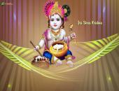 Jai Shree Krishna Wallpaper,
