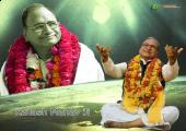 Guru Kailash Manav Image, green and white color