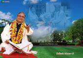 Guru Kailash Manav Image, green, white and blue color