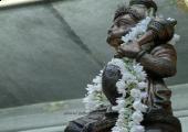 Lord Hanuman stone image, gray color