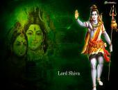 lord shiva wallpaper, green black with shivji