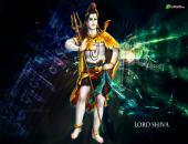 lord shiva wallpaper, dark green color with lord shiva
