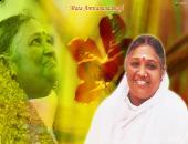 mata amritanandamayi devi wallpaper, yellow, red and green color
