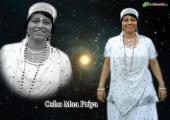 Osho Maa Priya image, black and white color