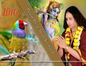 Param Pujya Anand Krishna Ji February 2016 Monthly Calendar Wallpaper,