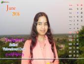 Sadhvi Vishveshwari Devi June 2016 Monthly Calendar Wallpaper,