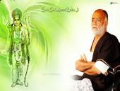 sant morari bapu ji wallpaper, green and white color