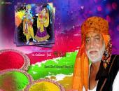 Sant Shri Morari Bapu Ji Holi Hai Wallpaper,