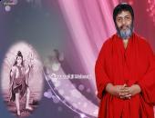 Shivanand Ji Maharaj wallpaper with lord shiva image, red and purple color