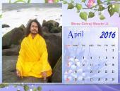 Shree Giriraj Shastri Ji April 2016 Monthly Calendar Wallpaper,