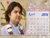 Shri Sanjeev Krishan Thakur Ji April 2016 Monthly Calendar Wallpaper,