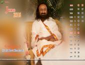 Sri Sri Ravi Shankar Ji June 2016 Monthly Calendar Wallpaper,