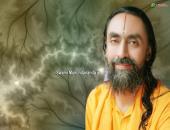 Swami Mukundananda ji wallpaper, gree, white and yellow color