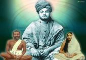 Swami Vivekanand Ji image, teal and gray color