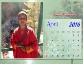 Swamini Pramananda April 2016 Monthly Calendar Wallpaper,
