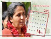 Swamini Pramananda May 2016 Monthly Calendar Wallpaper,