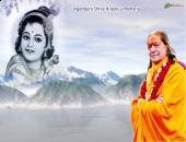 agadguru Shree Kripaluji Maharaj  photo wallpaper , blue , white and yellow color