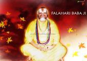 Baba Falahari image, yellow and red colour