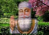This is Guru Nanak ji wallpaper, Green color