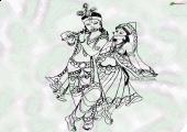Lord Krishna wallpaper, Black and white color