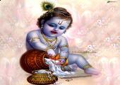 Lord Krishna, Purple and white color
