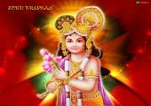Lord Krishna images, red and orange color