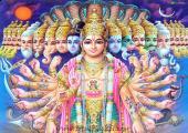 Lord Vishnu Avatar, blue and purple color