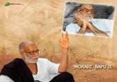 Morari Bapu images, brown and white color