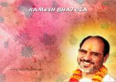 Ramesh Bhai Oza images,orange and pink color