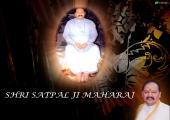 This is image of Satpal ji mahraj, black and brown color