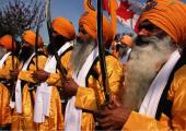 Sikh images, orange and brown color
