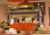 Sikh Gurudwara image, red and brown color