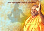 Sukhabodhanand image, orange and yellow color